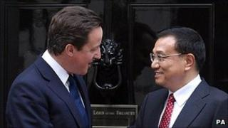 British Prime Minister David Cameron and Chinese vice premier Li KeQiang