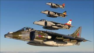 Harrier jets