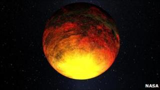 Artist's conception of Kepler 10b