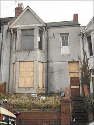 The empty property in Newport