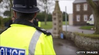 Police officer at Haut de la Garenne in Jersey