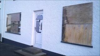Damage to house, Strabane