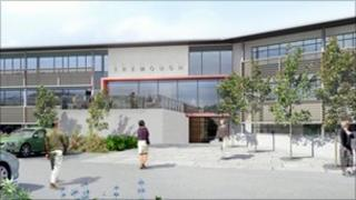Artist's impression of Tremough Innovation Centre