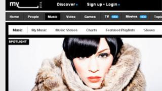 MySpace's music homepage