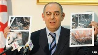 Communications Minister Samir Laabidi in Tunis, 11 January 2011