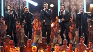 Take That at the Royal Variety Performance
