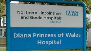 Diana Princess of Wales Hospital sign
