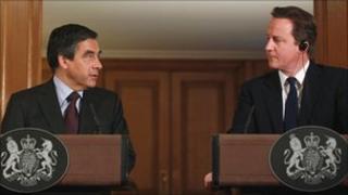 Francois Fillon and David Cameron