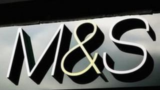 Marks and Spencer sign