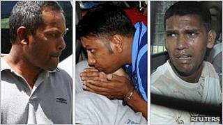 Sandip Moneea, 41, Raj Theekoy, 33, and Avinash Treebhoowoon, 29, have been charged over the killing