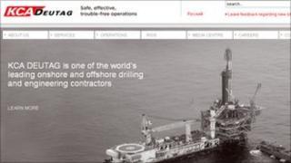 KCA Deutag website