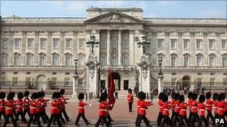 Buckingham Palace, in central London