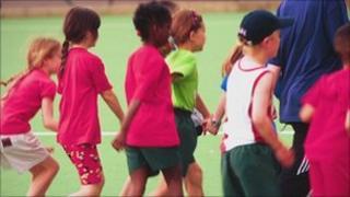 Children taking part in sport