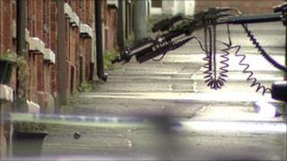 The suspicious object was found outside a house in London Street, off the Ravenhill Road
