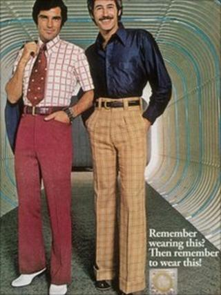 Condom advert featuring men from the 1970s