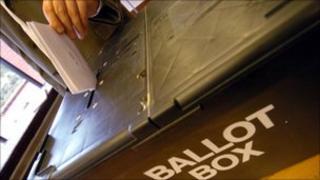 Vote going into ballot box