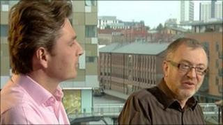 Daniel Kawczynski (left) and Richard Burden on the BBC's Politics Show in the West Midlands