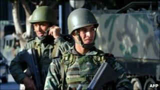 Soldiers in Tunis, Tunisia