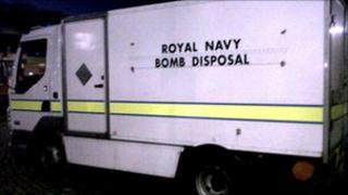 Bomb disposal unit at the scene [Pic: Stephen Armitage]