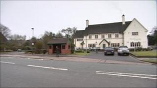 Police were called to the Red Lion Inn in Alvechurch