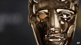 A Bafta mask after the nominations for the Orange British Academy Film Awards 2011 were announced