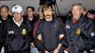 US Drug Enforcement Administration escorting Mr Bout