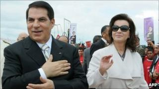 President Zine al-Abidine Ben Ali and his wife Leila in 2009
