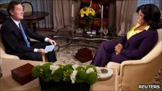 Piers Morgan and Oprah Winfrey