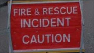Fire and Rescue incident sign (generic)