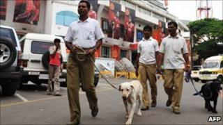 Generic pic of police sniffer dogs in Bangalore