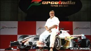 Vijay Mallya at the launch of Force India in 2007