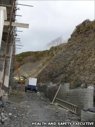 The building site in Aberystwyth