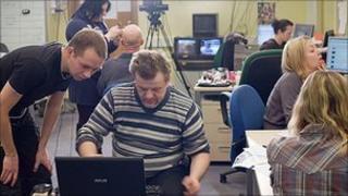Belsat TV journalists - BBC pic