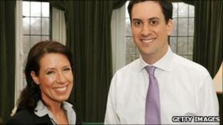 Debbie Abrahams and Ed Miliband