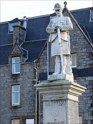 Fort William war memorial. Pic: Highland Council