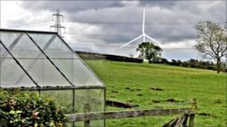 Impression of Lancaster wind turbine -