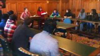 Students held lessons in the House of Commons