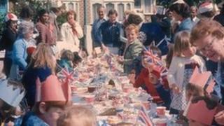 Silver Jubilee street party celebrations