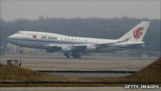 Air China Boeing 747 taking off