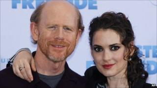 Ron Howard and Winona Ryder at the German premiere of The Dilemma