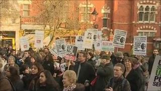 Leicester protest meeting