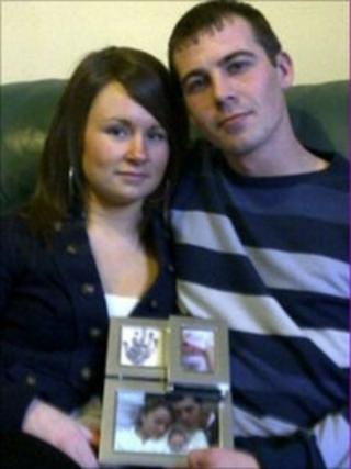 Kirsty Hikin and and Rob Balderson, Harley's parents