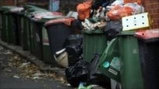 Generic dustbins in Leeds