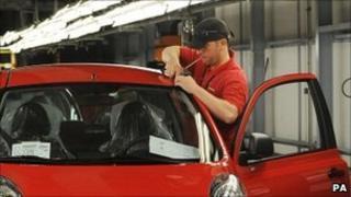 Worker at Nissan's Sunderland factory