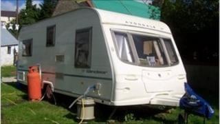 The stolen caravan