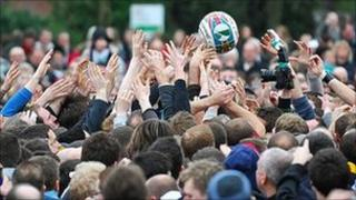 Ashbourne Shrovetide Football game