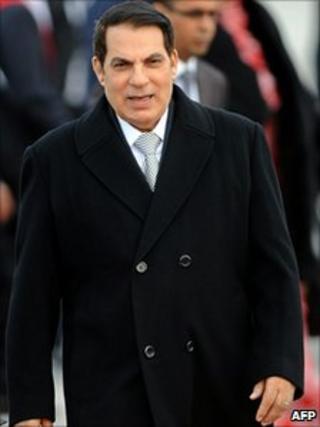 Ousted Tunisian President Zine al-Abidine Ben Ali