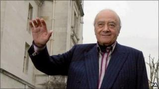 Mohamed al Fayed at Surrey County Hall