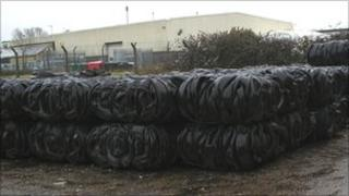 Baled tyres