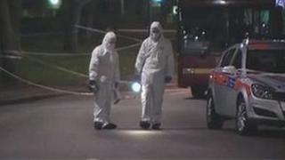 Scene of Tottenham murder
